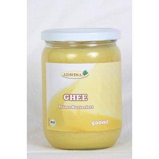 Ghee Ayurveda (Butterreinfett) aus BIO-Süßrahmbutter  500ml