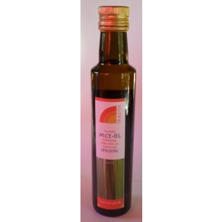 MCT Öl - mittelkettige TG 250ml Glasflasche